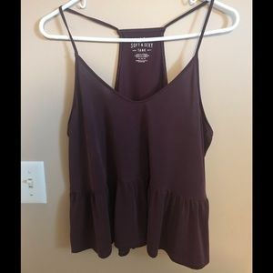 Women's medium American Eagle top burgundy